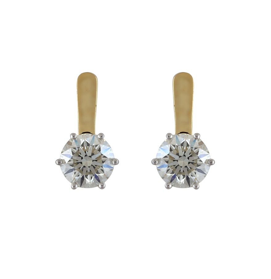 hallmark round yellow gold jewellery online earrings tops cz