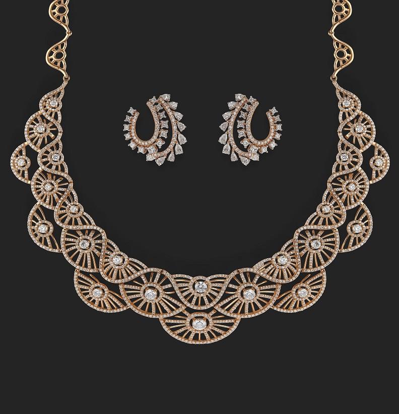 Bridal Diamond Necklace Diamond Necklace Designs Chintamanis