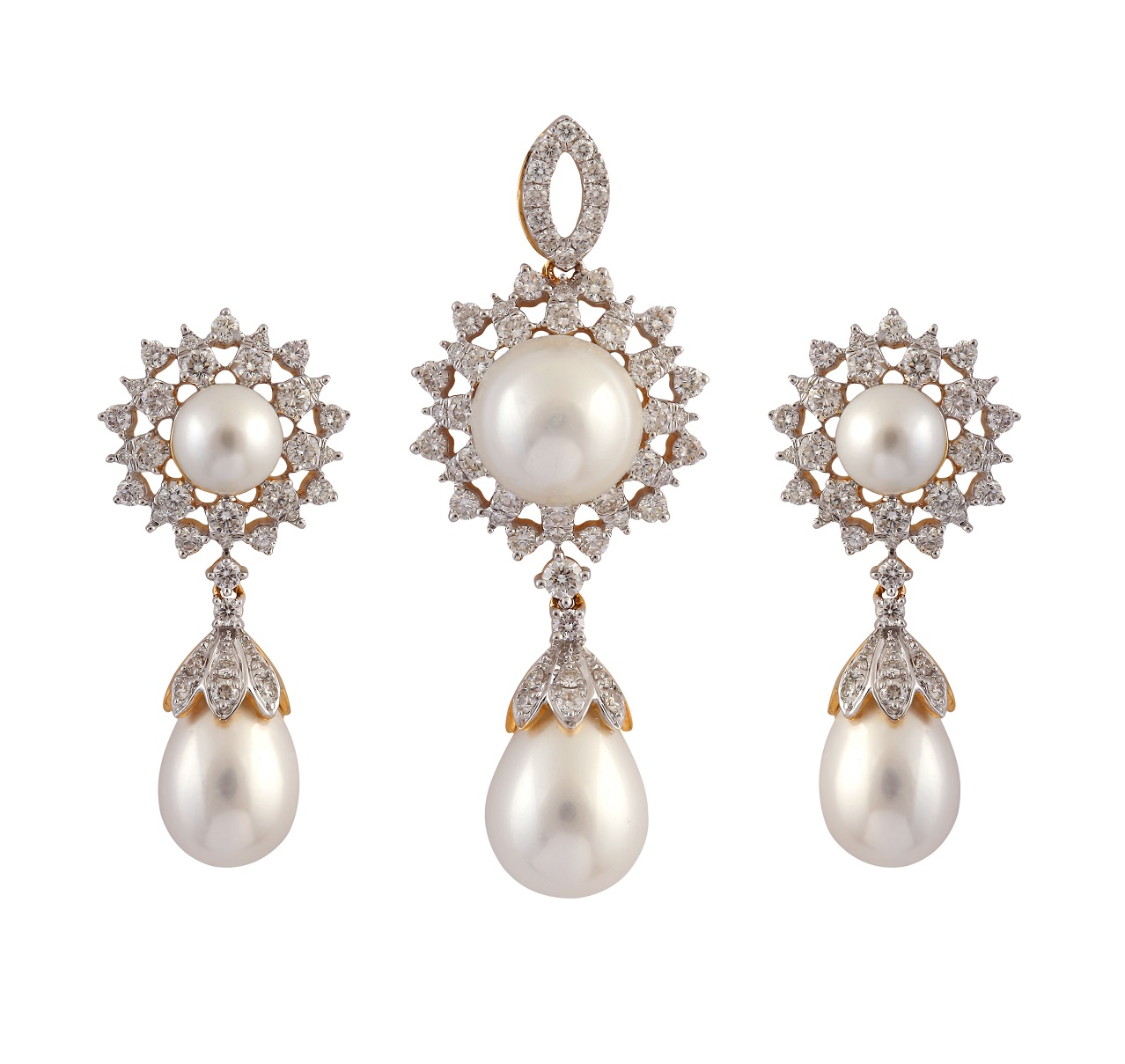 pearl product products diamond pendant and adriana ring jewellery image s earrings set