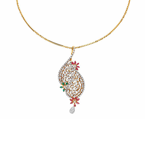 Diamond jewellery pendants fancy pendant set with baguette cut diamonds in chinese setting and marquise set in pronged setting affixed with dangling pearls mozeypictures Image collections